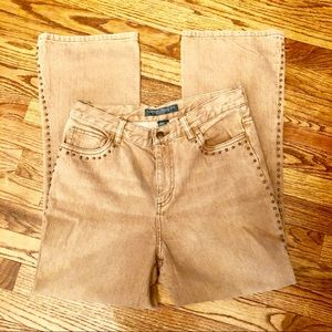 Vintage HW Studded Light Brown/latte LRL Jeans